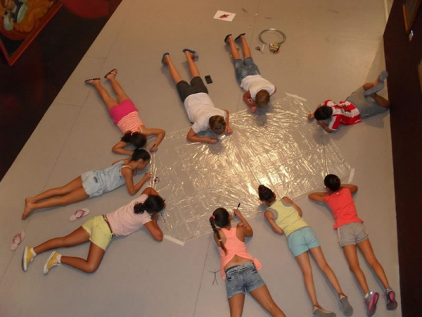 Theatre workshop for children, Athienou village, Cyprus - part of Confrontation through Art project